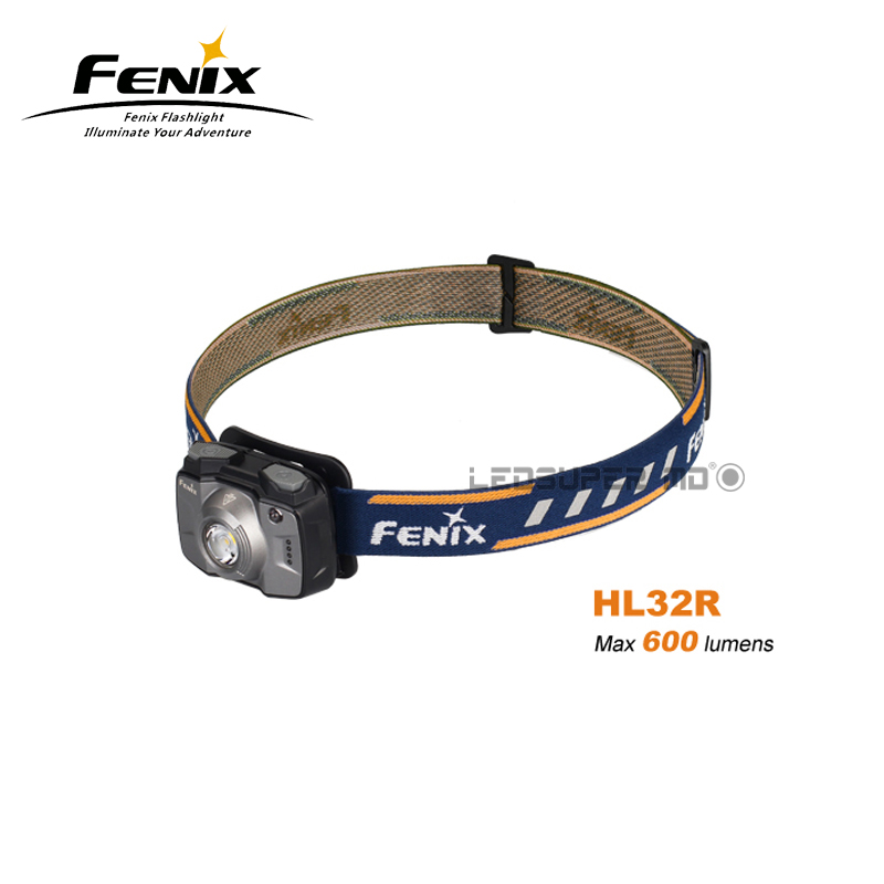 New Arrival Fenix HL32R 600 Lumens Cree XP-G3 LED Rechargeable Outdoor Headlamp with Built-in 2000mAh Li-polymer Battery fenix cree xp e2 r5 led 450lumens 4aa batteries headlamp headlight