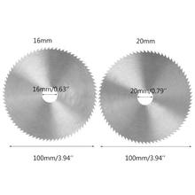 Disco de lâmina de madeira para trabalho em madeira, dia 4 Polegada mm, diâmetro de 16/20mm ferramenta rotativa de corte