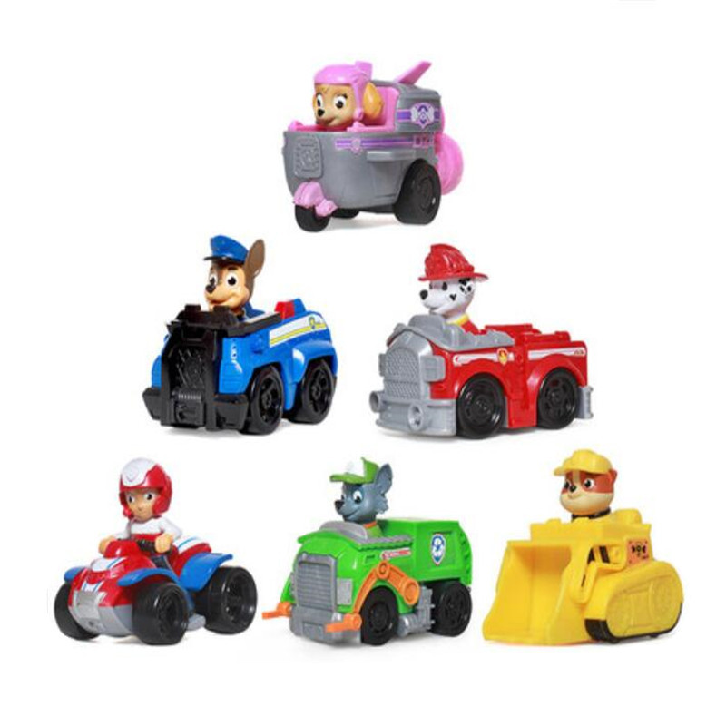 Fashion Style Paw Patrol Dog Anime Kids Toys Patrulla Canina Action Figure Model Chase Marshall Ryder Vehicle Car Children Gifts