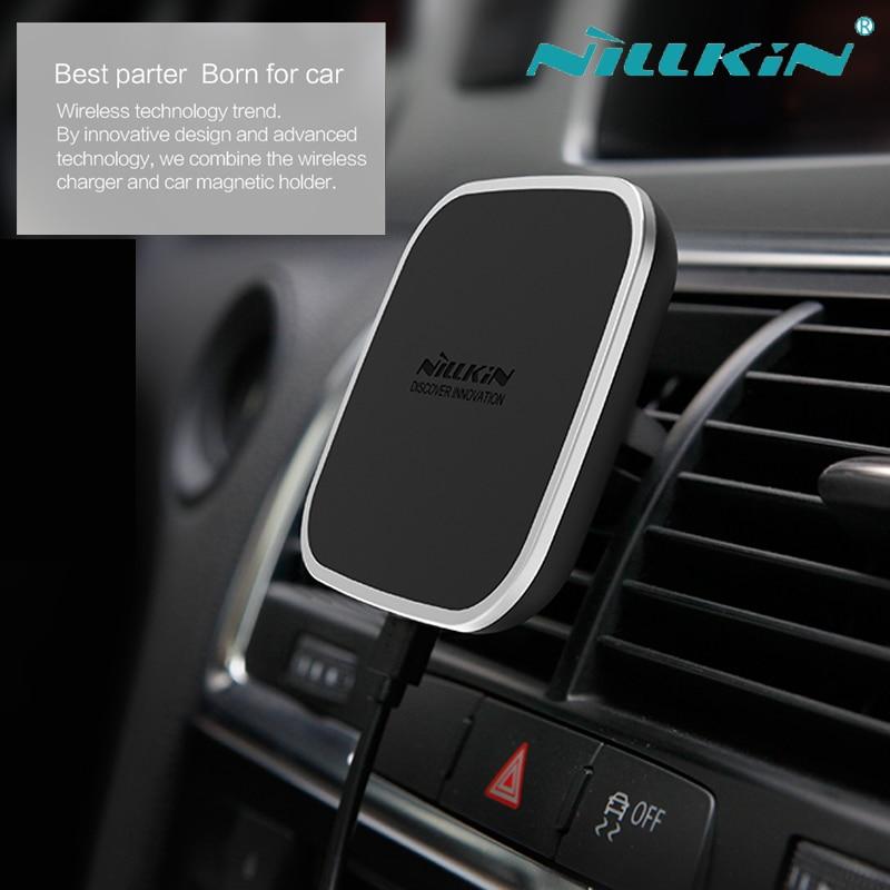 imágenes para Nillkin Magnética Coche Qi Cargador Inalámbrico Para el iphone 8 6 6 s 7 Plus de Samsung S6 S7 S8 Plus Borde Nota 5 Nilkin 7 de Carga dispositivo