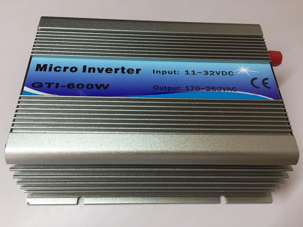 600W On Grid Tie Inverter 18V Panel 36Cells 220V Output DC To AC MPPT Function Pure Sine Wave Inverter micro inverter 600w on grid tie windmill turbine 3 phase ac input 10 8 30v to ac output pure sine wave