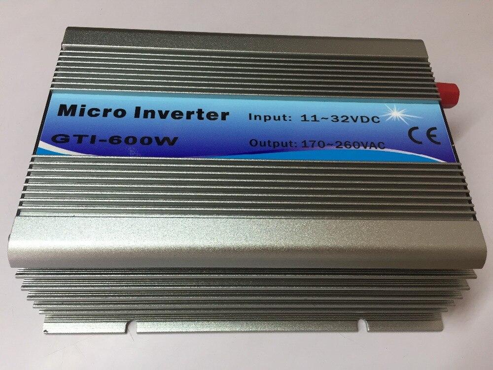 600W On Grid Tie Inverter 18V Panel 36Cells 220V Output DC To AC MPPT Function Pure Sine Wave Inverter