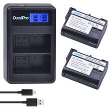 2 x DuraPro EN-EL15 ENEL15 EN EL15 Battery + LCD USB Dual Charger for Nikon D800E D800 D600 D7100 D7000 D7100 V1 MB-D14 Camera
