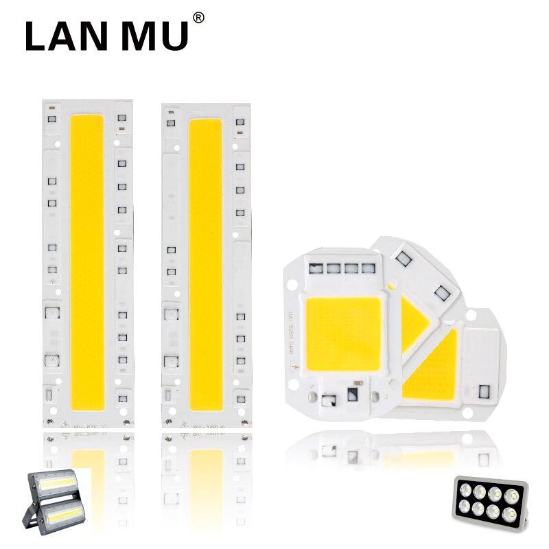 LAN MU LED COB Chip 110V 220V 10W 20W 30W 50W 70W 100W 120W 150W LED Bulb Lamp Input Smart IC Flood Light Spotlight