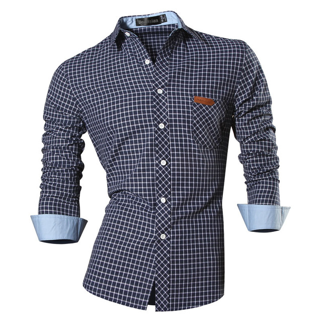 Men's Casual Long Sleeve Jeans Shirt