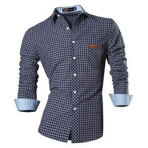 Image 4 - Jeansian primavera outono características camisas dos homens calças de brim casuais camisa nova chegada manga longa casual magro caber camisas masculinas 8615
