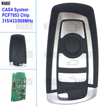 WALKLEE Smart Key 4 Buttons Suit for BMW CAS4 CAS4+ 1 3 5 7 Series with PCF7953 Chip 315MHz 433MHz 868MHz Remote Keyless Entry