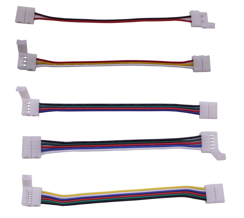 10mm 12mm 2pin <font><b>3pin</b></font> <font><b>4pin</b></font> 5pin 6pin led wire connector Electronic Wire <font><b>cable</b></font> for led strip light tape white cct <font><b>RGB</b></font> RGBW RGBCCT image