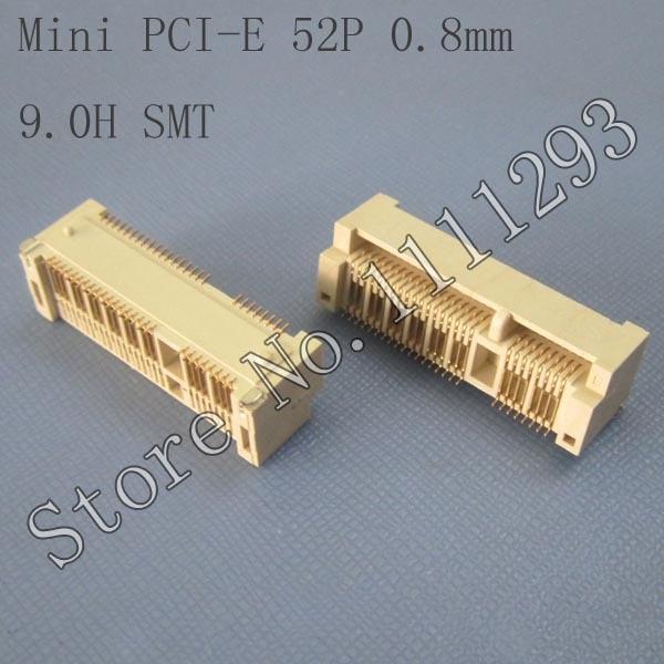 5 Teile/los Mini Pci-e 52 P, 0,8mm, 9,0 H Smt Anschluss Für Asus F5v F80q F80s F81s F83vf F83t N61vj Z37e Z37s Z37v Motherboard