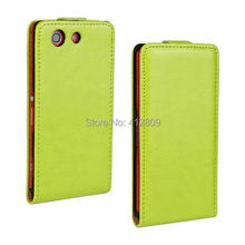 1PCS Orange Color PU Leather Fashion PU Skin Pouch Vertical Flip Back Cover Case for Sony Xperia Z3 Compact / Z3 Mini M55W Free(China)