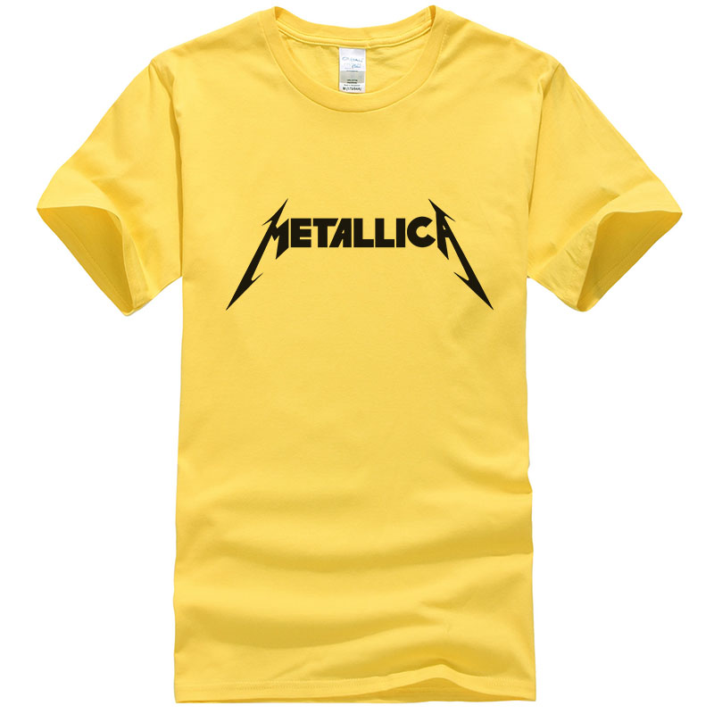 Metallica hard metal rock band Men's   T  -  Shirt   Summer   T     Shirt   For Men Short Sleeve Cotton Casual Top Tee Camisetas Masculina T171