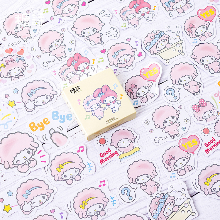 Mohamm Sheep Logo Label Paper Small Diary Mini Japanese Cute Stickers Scrapbooking Cute Flakes Journal Stationery