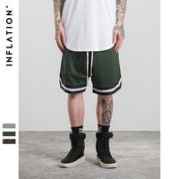 INFLATION 2017 New Arrivals Mens Vintage Style Men Mesh Haren Shorts Zipper Pocket Shorts Mesh Hip