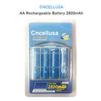 CNCELLUSA rechargeable battery Double AA 2800mAh High Capacity 1.2V Ni-MH 4PCS for Child Toys Camera Clock Microphone 2A Cell