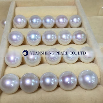 [YS] 10-11mm AAAA Perfect Round Freshwater Pearls Edison Pearl Loose Pearl huge pair of 11mm natural tahitian genuine black perfect round pearl earring