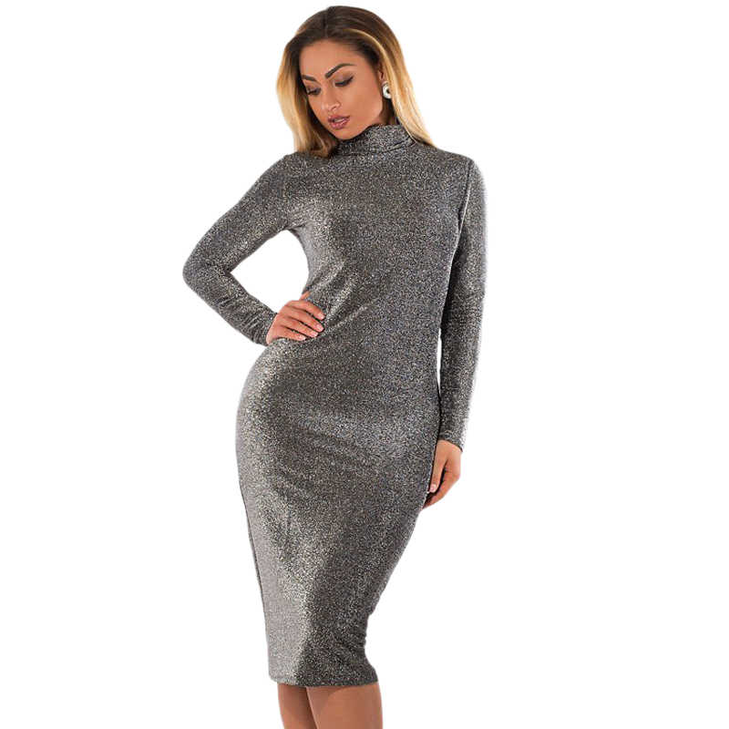 Metallic Knitted Bodycon Bandage Dress 2018 Spring Winter Women Dress Sexy Party Dress Plus Size Women Clothing 5XL 6XL Vestidos
