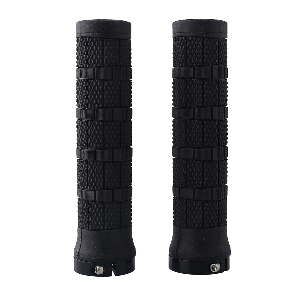 1 Pair Rubber Handlebar Lock on Grips Bicycle MTB Locking Sports New Bike Parrts & Accessories Handlebar Grips Bicycle Grips    - AliExpress