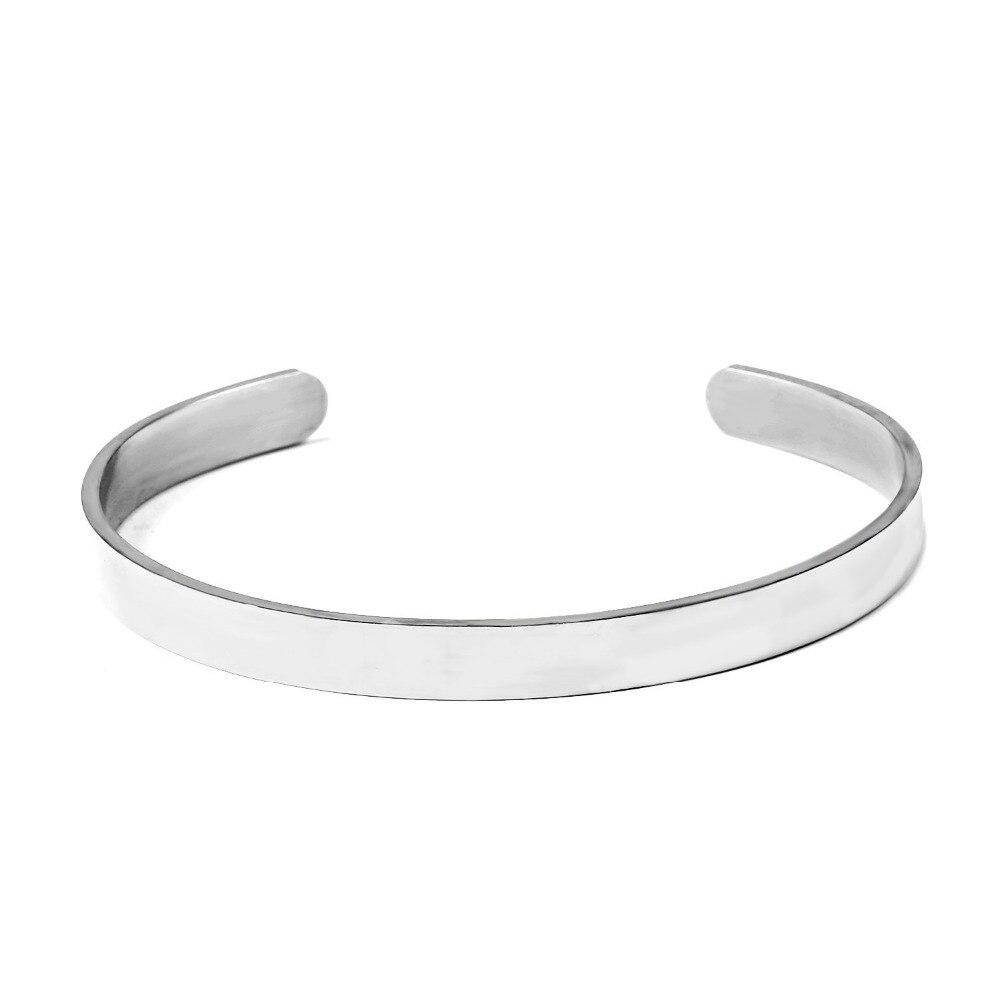 Bracenory mode edelstahl armband armreif zwei farben availble für mädchen oder jungen mode schmuck