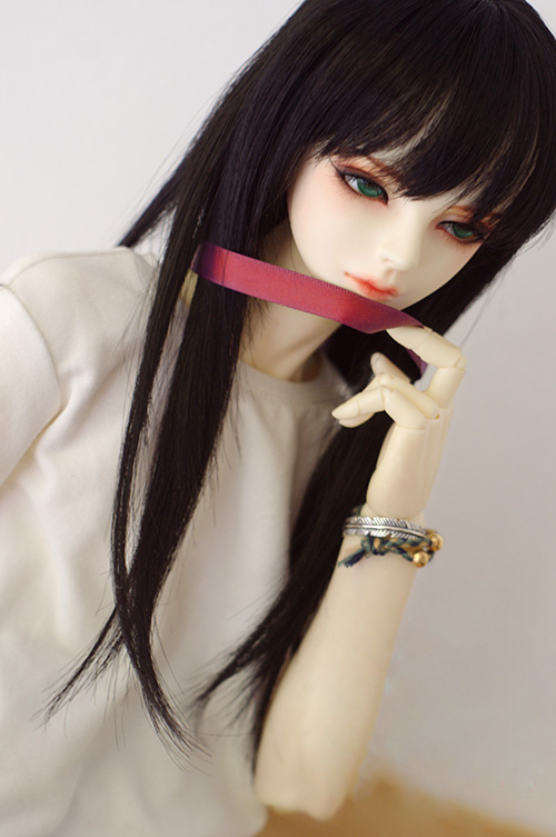 Doll Wigs Black High-temperature Wire Long Straight Wigs For 1/3 1/4 BJD DD SD MSD Doll Wigs Doll Accessories