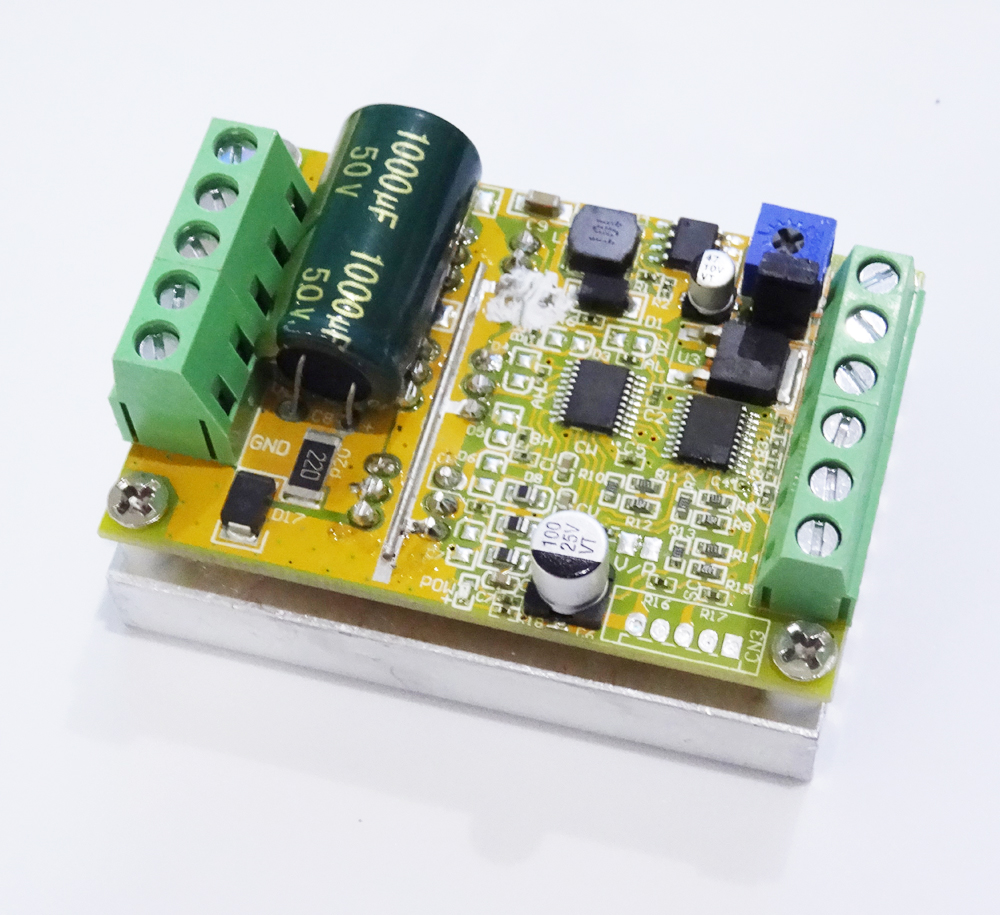 380w 3 Phases Brushless Motor Controller board(No/without Hall sensor) BLDC PWM PLC Driver Board DC 6-50V