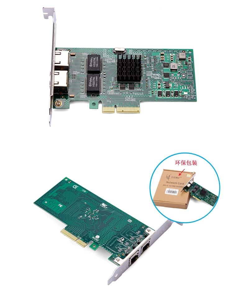 I350-T2 PCI-E 4X Server Dual RJ45 Port Gigabit Ethernet Intel i350t2 1000Mbps Network Card Ethernet Server Adapter сетевая карта lenovo thinkserver i350 t4 anyfabric 1gb 4 port base t ethernet adapter by intel 4xc0f28740 4xc0f28740