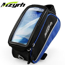 MZYRH 3Size Bike Bag 4.2/4.8/5.5″ TouchScreen Phone Case Bicycle Frame Bag Top Tube Front Cycling Saddle Bag Pannier Accessories