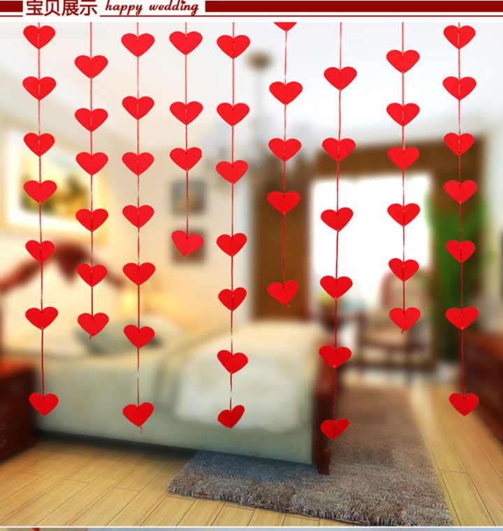 1 шт. в свадебное платье свадебные принадлежности новая любовь Шторы DIY нетканого LaHua сердце макет брак комнате окна шторы