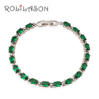 Top Quality Peridot Jewelry For Women Green Crystal Bracelets Excellent Design AAA Zirconia Prom Fashion Jewelry
