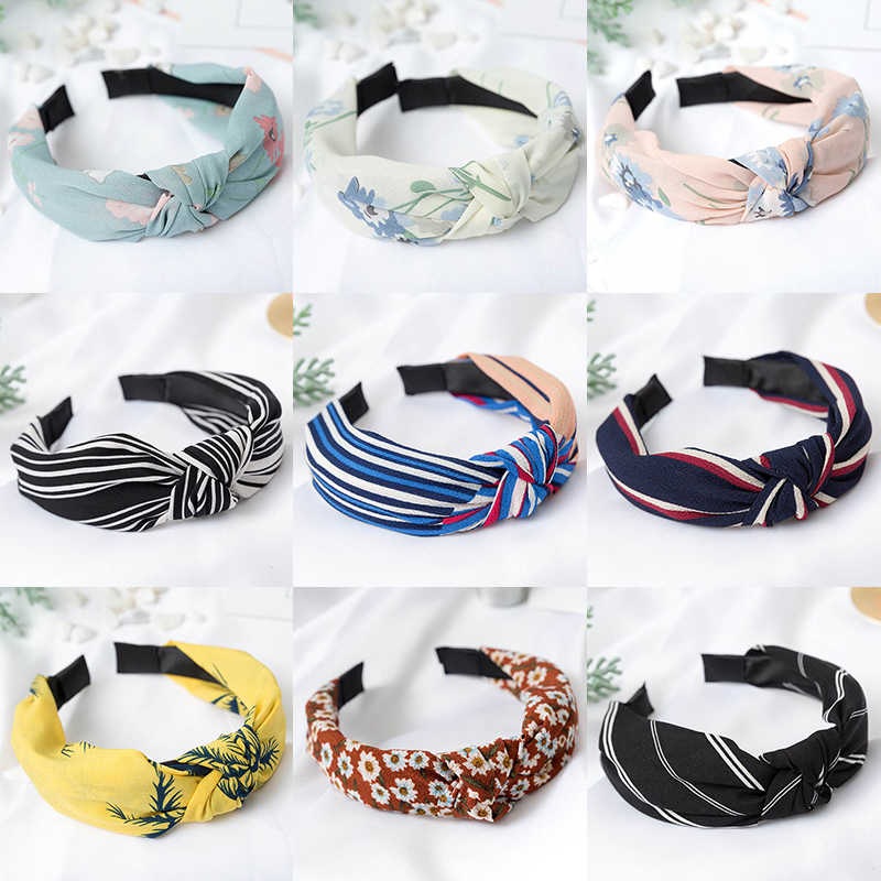 29 Colors Headbnand Bowknot Flower 2019 New Arrival 1PC Comfortable Strip Cloth Party Hair Accessories Soft Gifts Wide Dot