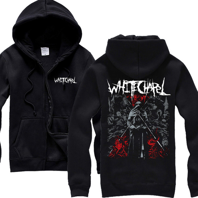 8 styles Cool Horrible Hell Whitechapel Cotton Rock Hoodies brand winter jacket Heavy Metal Sweatshirt zipper fleece sudadera