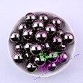 Frete Grátis 20 MM 100 pçs/lote Chunky Bubblegum Acrílico Contas Sólidos CDWB-517617 Hematita Beads UV Para Jóias
