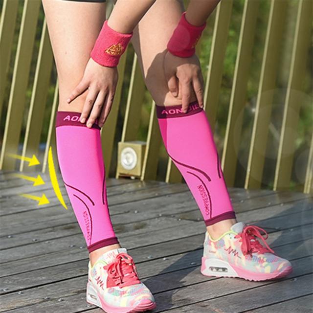 Aonijie Outdoor Running Basketball Sports Safety Leggings Compression Calf Sleeve Longer Crash Legwarmers