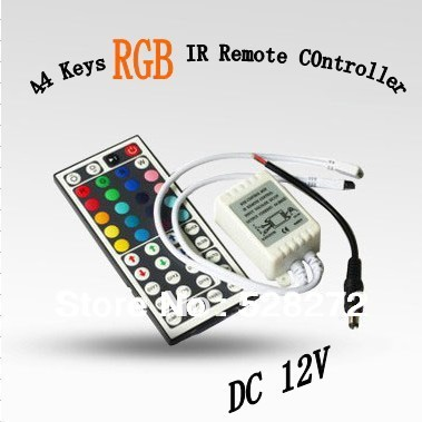 1PC 44 Keys LED IR RGB Controler LED Lights Controller IR Remote Dimmer Input DC12V 6A For RGB SMD 3528 5050 LED Strip