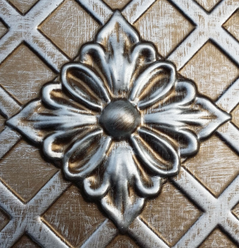 Pl04 faux antique tin copper metallic ceiling tiles interior wall pl04 faux antique tin copper metallic ceiling tiles interior wall paneling store cafe pub decorative wall panels 10tileslot in decorative films from home amipublicfo Gallery