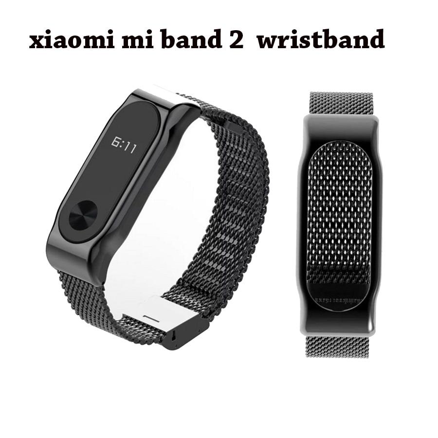 Acquisto libero Vendita Calda Mi Band 2 Metallo Cinturino Da Polso Per Xiaomi Originale Miband 2 Braccialetto Intelligente In Senza Viti Wristband