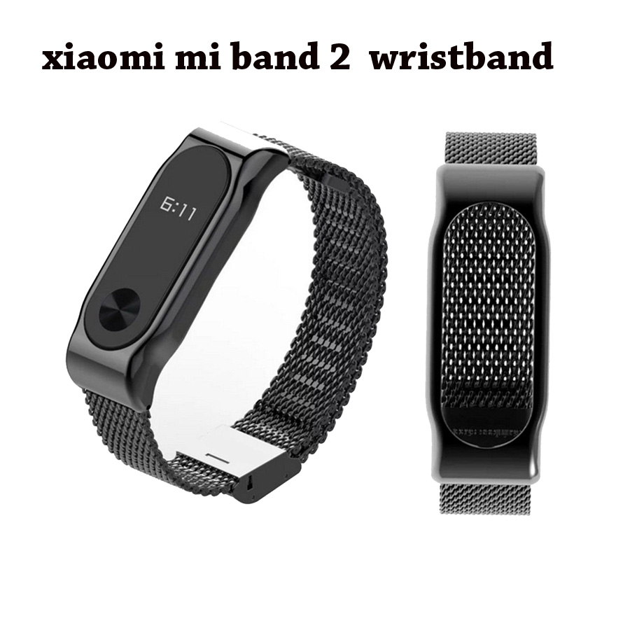 Metal Strap for Xiaomi Mi Band 2 Screwless Stainless Steel Bracelet Wristbands Replace Accessories Mi Band 2 Bracelet