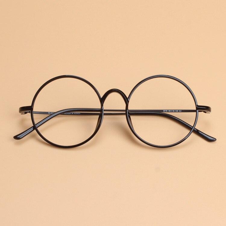 3365da2142 Delgada luz plástico acero tungsteno óptico gafas marco redondo Unisex  mujer hombres friki gafas puede llenar la miopía presbicia lente