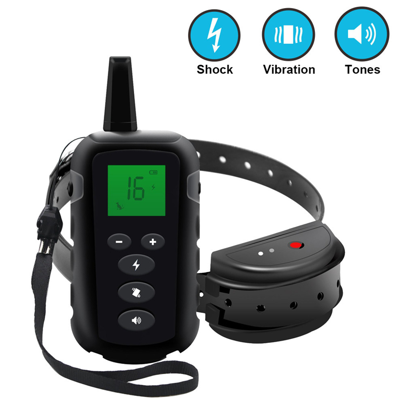 Deep Waterproof Luminous Screen Remote Control Pet  Dog Training Device Dog Training Collar  dog care training collar