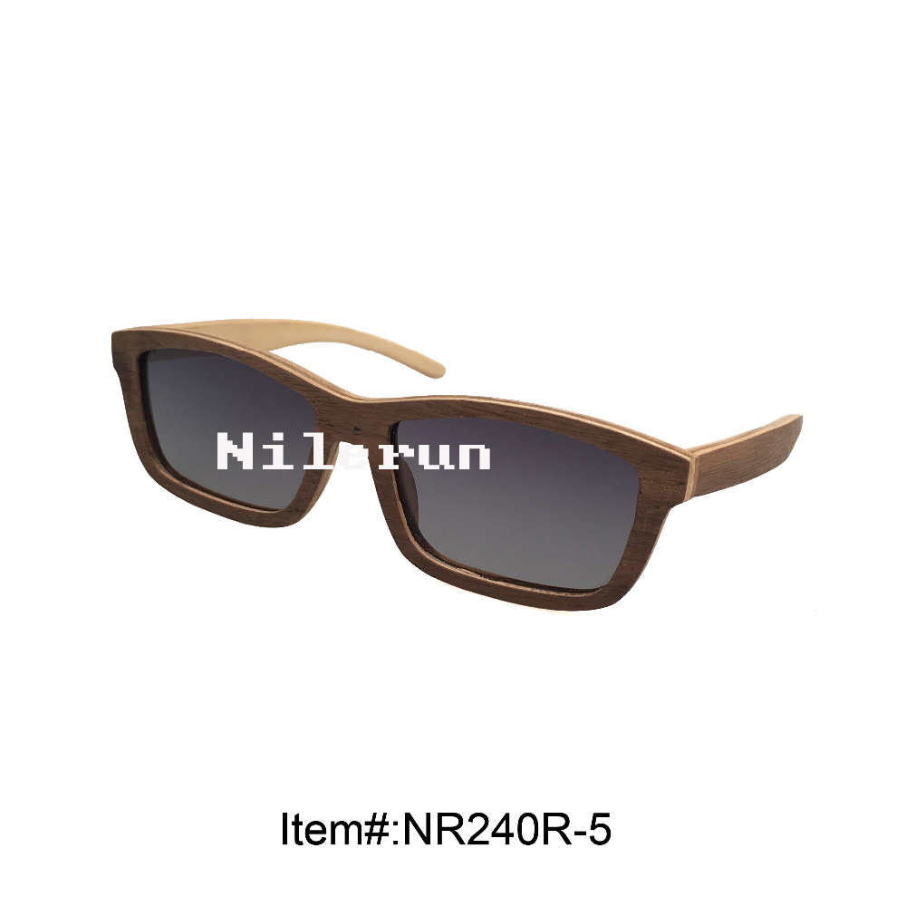 ultra light grey wood sunglasses