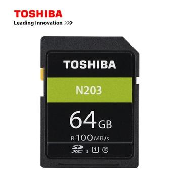 Original TOSHIBA SD Card 32GB 64GB 128GB SDHC SDXC UHS-I U1 Flash Memory SD Card Class10 100MB/S Camera Card For Full HD Canon