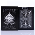 1 unids Ellusionist Bicicleta Negro Ghost Cubierta Playing Card Poker Cartas Mágicas Close Up Trucos Magia de Escenario para el Mago Profesional