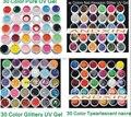 30 цвета Смешивания уф гель Строителя лак для ногтей Pure + Блеск Блестка + Блеск + перламутровый перламутр цвета ногтей гель набор уф гель комплект