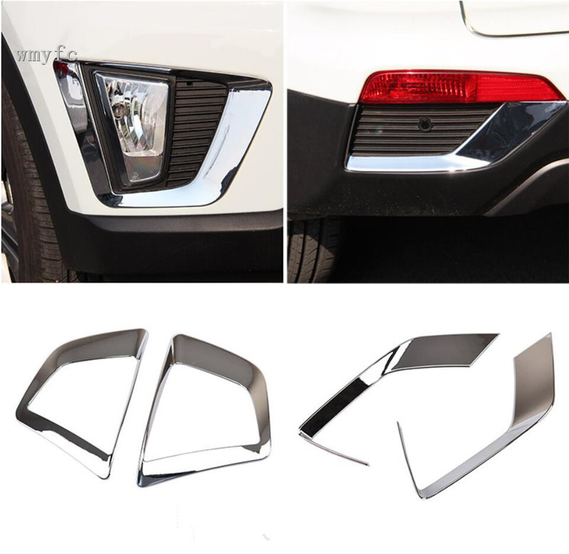 2pc Chrome Front Fog Light Lamp Bumper Cover Trim for Jeep Compass 2017-2018