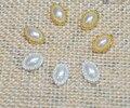 100 unidades/pacote de cristal ouro prata ( 3d Nail Art decorações ) ellipse quente em strass para unhas de pedra DIY