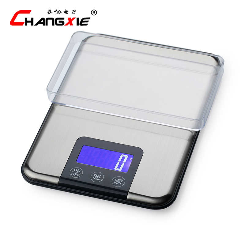 Hot 15 kg/1g LCD balances de cuisine en acier inoxydable haute précision balances électroniques grammes pesant échelle de cuisson échelle de bijoux