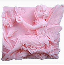 Flower fairy handmade soap mold aromatherapy gypsum ornaments cake decoration 3d angel making silicone molds