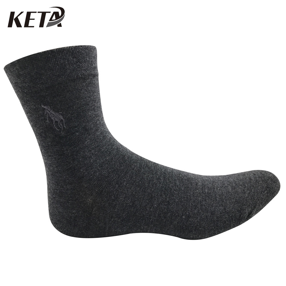 KETA Fashion Colorful Brand Polo Men Socks Male Casual Business Dress Socks For Men Crew Pure Cotton Socks (5Pairs/lot)