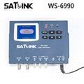 Original satlink ws 6990 localizador terrestre dvb-t 1 rota modulador dvb-t/av/hdmi ws-6990 medidor satlink 6990