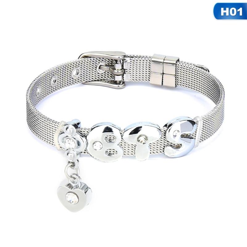 Bracelets & Bangles Charm Bracelets Fashion Silver Color Stainless Steel Mesh Bracelet Set Bangtan Boys Exo Charm Brand Bracelet Bangle For Woman Jewelry Gifts