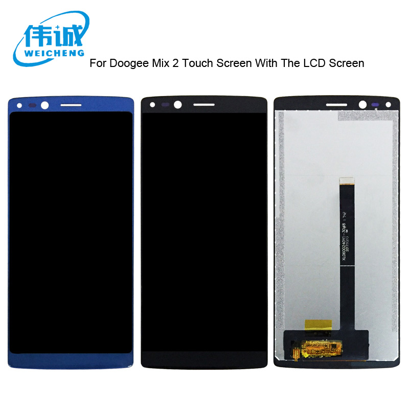 WEICCHENG For Doogee Mix 2 LCD Display and Touch Screen 5.99 Inch For Doogee Mix 2 Mobile Phone Accessory +Free Tools
